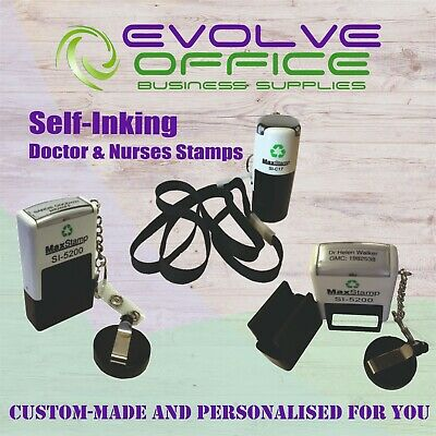 NHS Doctor Nurses Rubber Stamp Self Inking Pocket Size Quality Item Custom Made