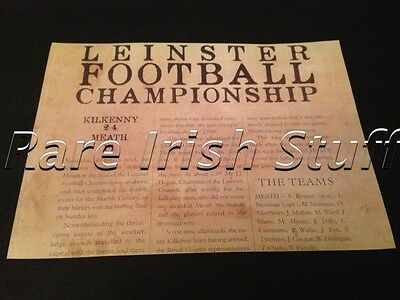 Leinster Football Ireland - Kilkenny VS Meath 1911 Irish GAA Report Print