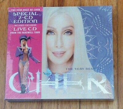 CHER Rare Hollywood Bowl Farewell T-shirt + The Very Best Of deluxe 2 CDs RARE!!