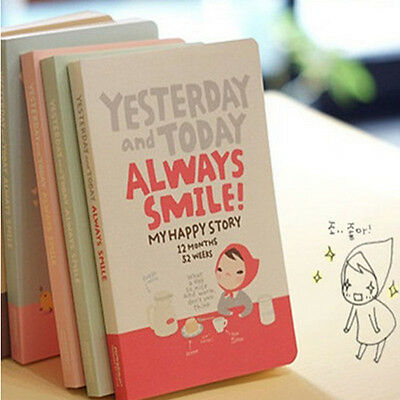 Fashion Cute Red Hat Girl Agenda Diary Notebook Weekly Daily Planner Record Hot