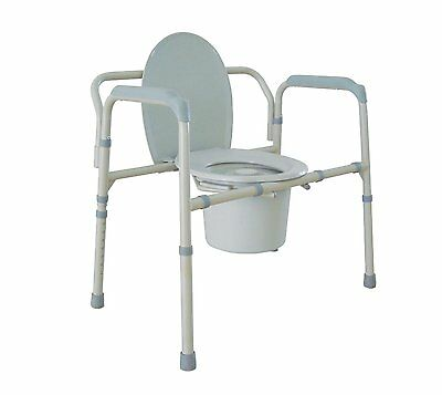 Heavy Duty Bariatric Folding Bedside Commode Seat 11117N-1 By Drive Medical New