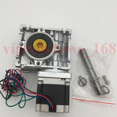 Worm Gearbox 15:1 Nema23 Stepper Motor L76mm 27Nm Speed Reducer Router CNC Kit