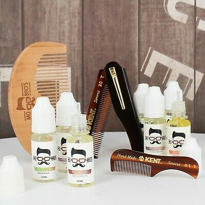 Beard Comb & Conditionong Oil Styling Kit | Pocket Friendly | 3 Combs + 8 Scents