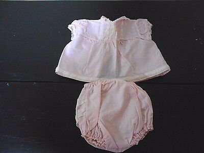 Baby Girl's Vintage 2 Piece Pink Outfit