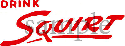 Drink Squirt Script Decal Red 4""