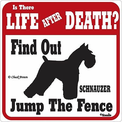 Schnauzer Life After Death Funny Warning Dog Sign