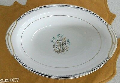 Vintage Rare Noritake Trevor 5780 Oval Vegetable Serving Bowl Fine China Japan
