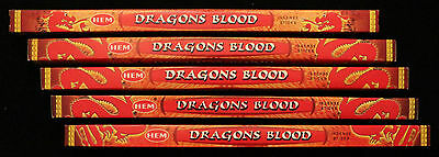 40 Sticks 5 Packs DRAGONS BLOOD Exotic Dragon Scented Incense Insence HEM Bulk