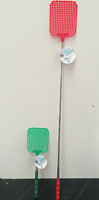 Fly swat extendable telescopic metal pole 16.5cm to 63cm swatter