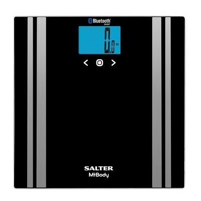 Salter Mibody Digital Analyser Smart Scale Measures Weight & Fat% -9159 BK3E CLR