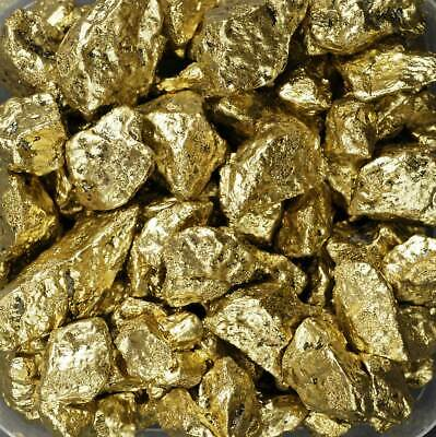 Deko-Gold Schatztruhe 500 g 9-15mm Goldnuggets Gold Nuggets gold 12,98 €/kg
