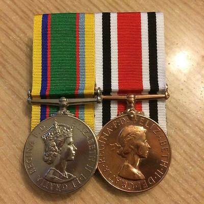 QDJM or QGJM and LONG SERVICE Medal FS and Mini court mounted medals