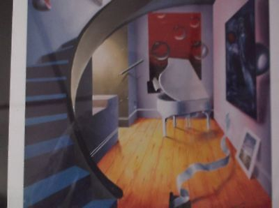 FERJO lithograph  the blue stairs surrealism