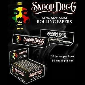 Snoop Dogg King Size Slim Cigarette Smoking Genuine Rolling Papers