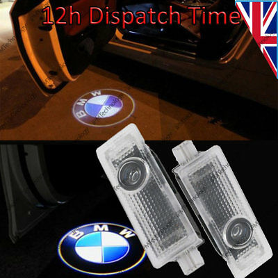 2x Laser LED Door For BMW Projector Courtesy Puddle Shadow Light Lamp Logo