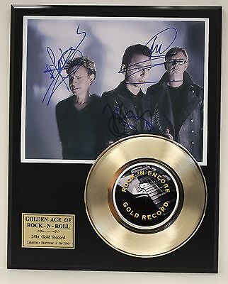 Depeche Mode Reproduction Signature Gold Record Ltd Edition Display