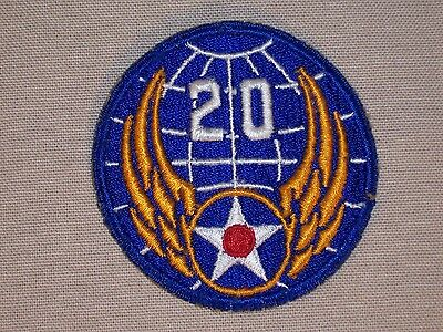 Vintage WW 2 US Army 20th Air Force Patch Original WWII Japan