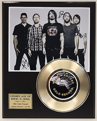 Foo Fighters Reproduction Signature Gold Record Limited Edition Display