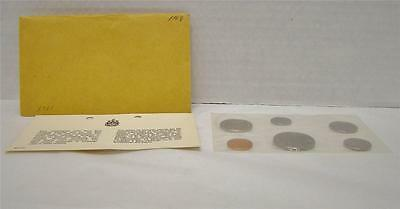 1968 Canada Uncirculated Proof Like Pl Coin Set With Envelope & Coa