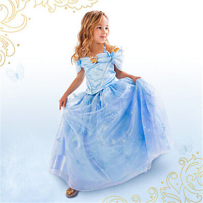 Cinderella Disney inspired Dress Princess costume New FREE SHIP Child Toddler