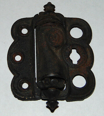 1 Vintage Screen Door Hinge cast iron quick release old 1896 spring closing