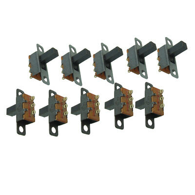 2mm Pitch On/On Miniature Slide Switch SPDT 3 Terminals 10 Pcs