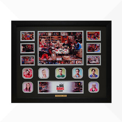 The Big Bang Theory Signed & Framed Memorabilia - Black/Silver Limited Edition