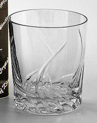 PAIR HAND CUT WHISKY GLASSES Lead Crystal Glass Mayfair Gift Boxed NEW 30% OFF