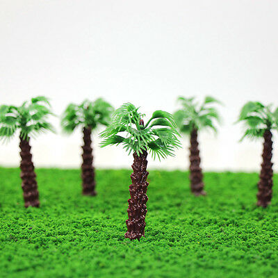 YS06 20 Model Livistona Chinensis Palm Trees Model Layout Train Scale 1/100 TT