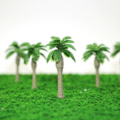 YS10 20PCS 2.5 inch Model Palm Trees Banana Model Layout Train Scale 1/100 TT HO