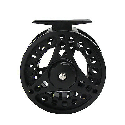 Fly Fishing Reel with CNC-machined Aluminum Alloy Body TROUT 2+1BB   7/8 Black