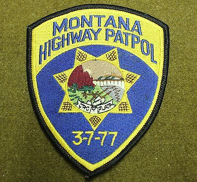 18235)  Patch Montana Highway Patrol 3-7-77 Sheriff Department Police Law