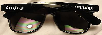 Captain Morgan Rum - Plastic Sunglasses - Captain Morgan on Sides...Black...NEW