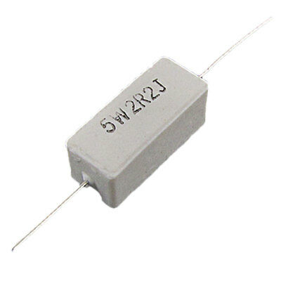 5W Watt 2R2 2.2 Ohm Ceramic Cement Power Resistors x10pcs
