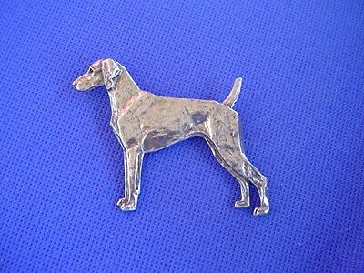Weimaraner Pin #65A Pewter Sporting dog jewelry by Cindy A. Conter CAC Designs