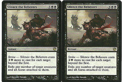 mtg Magic 2x Silence The Believers ( Silenciar a los creyentes ) English Ex+