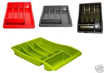 5 Compartment Cutlery Tray Organiser Tidy Holder Storage Insert Drawer Kitchen