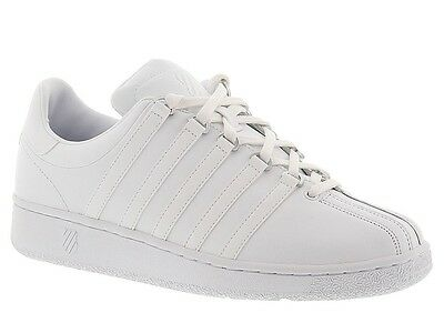 Men K-Swiss Classic VN Leather 03343-101 White White 100% Authentic Brand New
