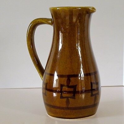 "Sylha Original Chinese Style Decorated Large 8"" Pottery Jug c.1960s"