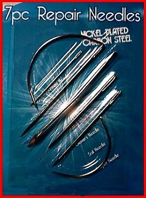 7 pieces NEEDLE Kit ~ for sewing Leather, Canvas, Fabrics and Upholstery!