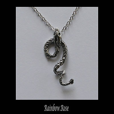 Chain Necklace #229 Pewter SNAKE Silver Tone (29mm long)