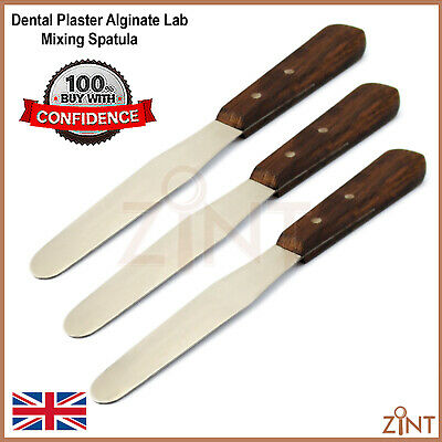 3 pcs Dental Plaster Alginate Lab Mixing Spatula Flexible Wax Modelling Lab Tool