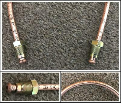 COPPER BRAKE PIPE READY MADE 12 Inches Long METRIC 10MM  MALE ENDS