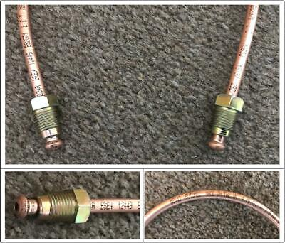 COPPER BRAKE PIPE READY MADE 12 Inches Long METRIC 10MM MALE ENDS AUTOMEC Pipe