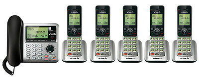 Vtech CS6649-3 + (2) CS6409 6 Handset Corded / Cordless Phone New