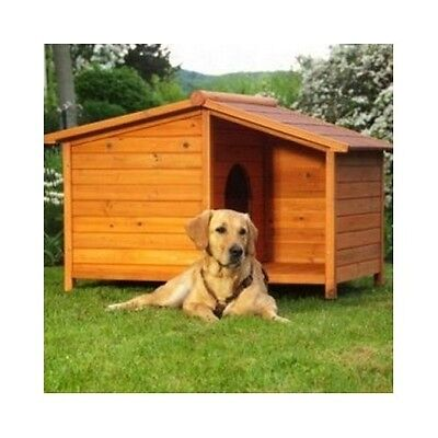 Wooden Dog Kennel Warm Winter House Weather Proof Shelter Outdoor Patio Large UK