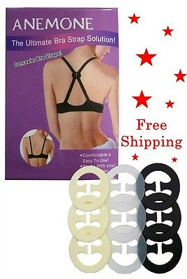 9, 18pcs  Bra Strap Concealer Back CLIPS Perfect Solution Max Cleavage Racerback