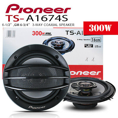 New pioneer TS-A1674S 16CM 6.5 3WAY 300 Watts Car Coaxial Speaker