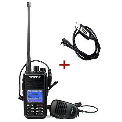 DE Retevis RT3 Walkie Talkie 1000CH Digital Mobile (DMR) 2 Way Radio+USB+Speaker