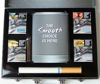 Rare Winfield Charcoal Cigarette Display Presenter Briefcase Pack Red Blue Gold
